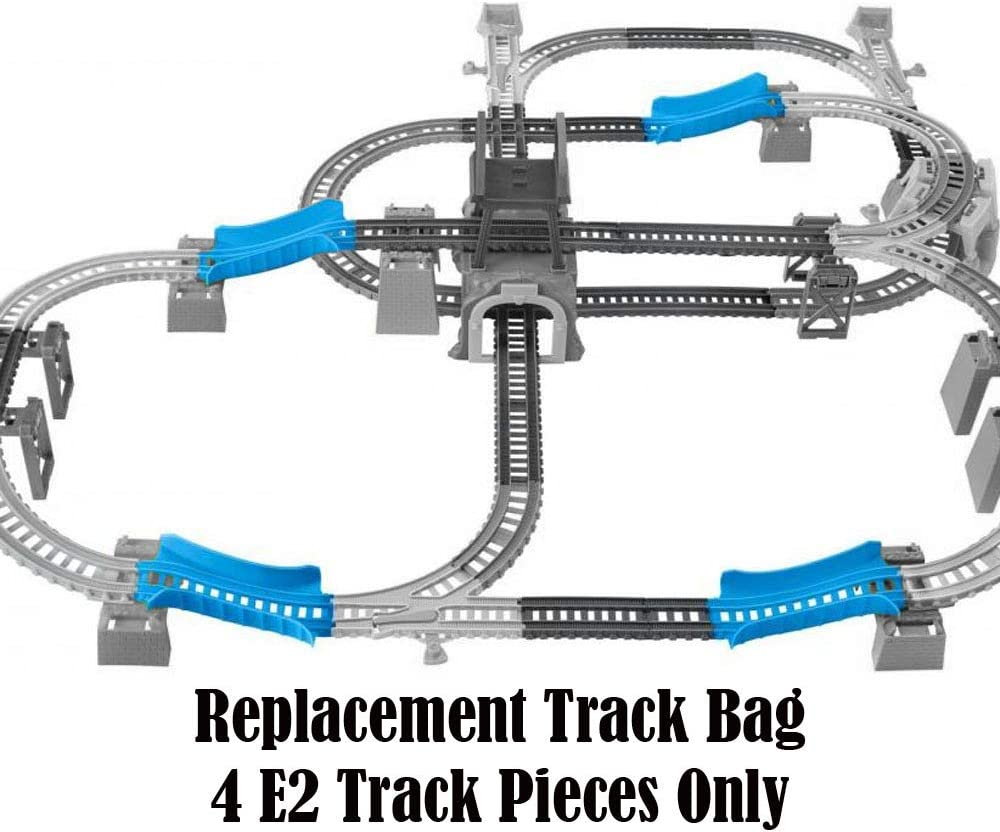 GBN45 ~ Thomas /& Friends Trackmaster Percy 6 1 Set ~ Replacement Track Bag ~ 4 E2 Track Pieces ~ Blue Replacement Parts for Thomas The Train in