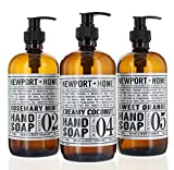 #2: Set of 3, Newport Home Hand Soap Collection 16 FL/473ml each Infused With Coconut Essential Oils, Rosemary Mint, Creamy Coconut & Sweet Orange