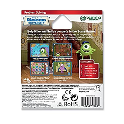 LeapFrog Disney Pixar Monsters University Learning Game (works with LeapPad Tablets, LeapsterGS, and Leapster Explorer): Toys & Games