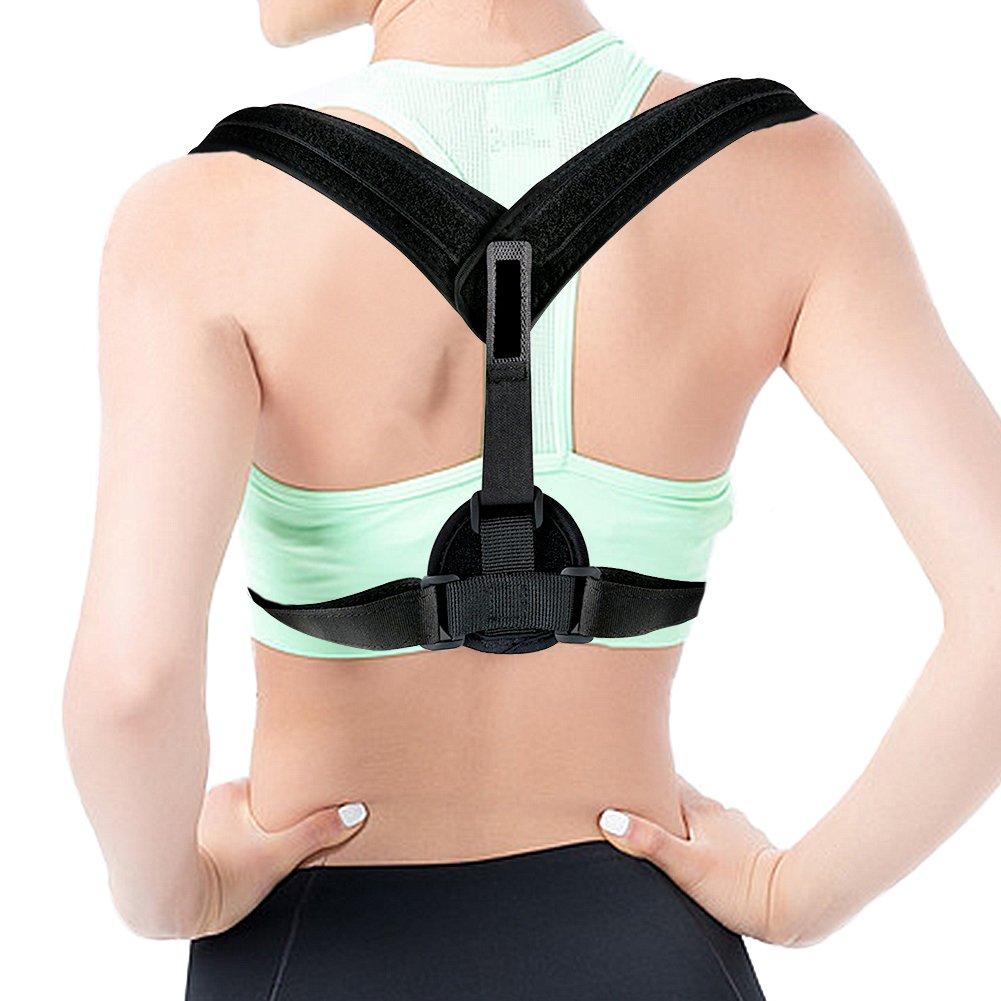 Posture Corrector, Goodsmiley Adjustable Back Posture Corrector, Improves Posture and Provides Lumbar Support for Lower and Upper Back Pain for Women & Men