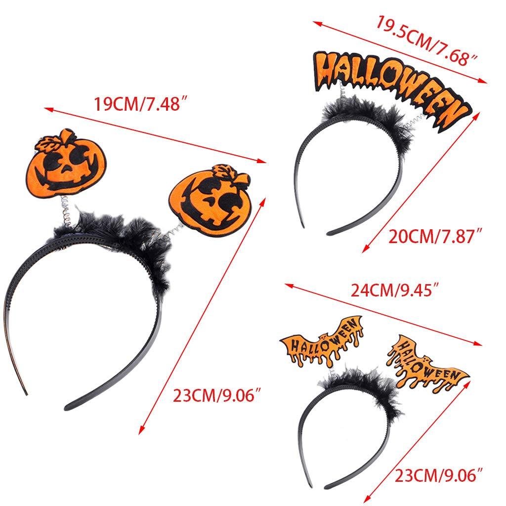Cold Toy Halloween Kinder Haarreif K/ürbis Bat Haarband f/ür Party Kost/üm A