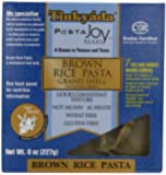 Tinkyada Brown Rice Pasta, Grand Shell, 8 Ounce (Pack of 12)