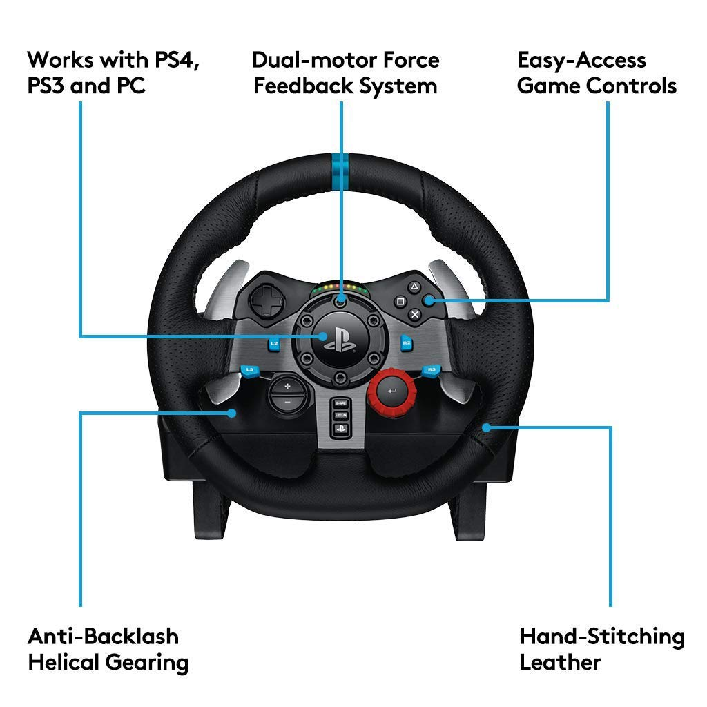 5b5ad2dcf5a Amazon.com: Logitech Dual-motor Feedback Driving Force G29 Gaming Racing  Wheel with Responsive Pedals for PlayStation 4 and PlayStation 3: Computers  & ...