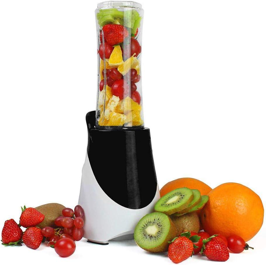 Leogreen - Licuadora de Sopas y Jugos, Licuadora de Frutas y Vegetales, Negro, con 600 ml botella del deporte, Material de la taza: Plástico ABS: Amazon.es: Hogar