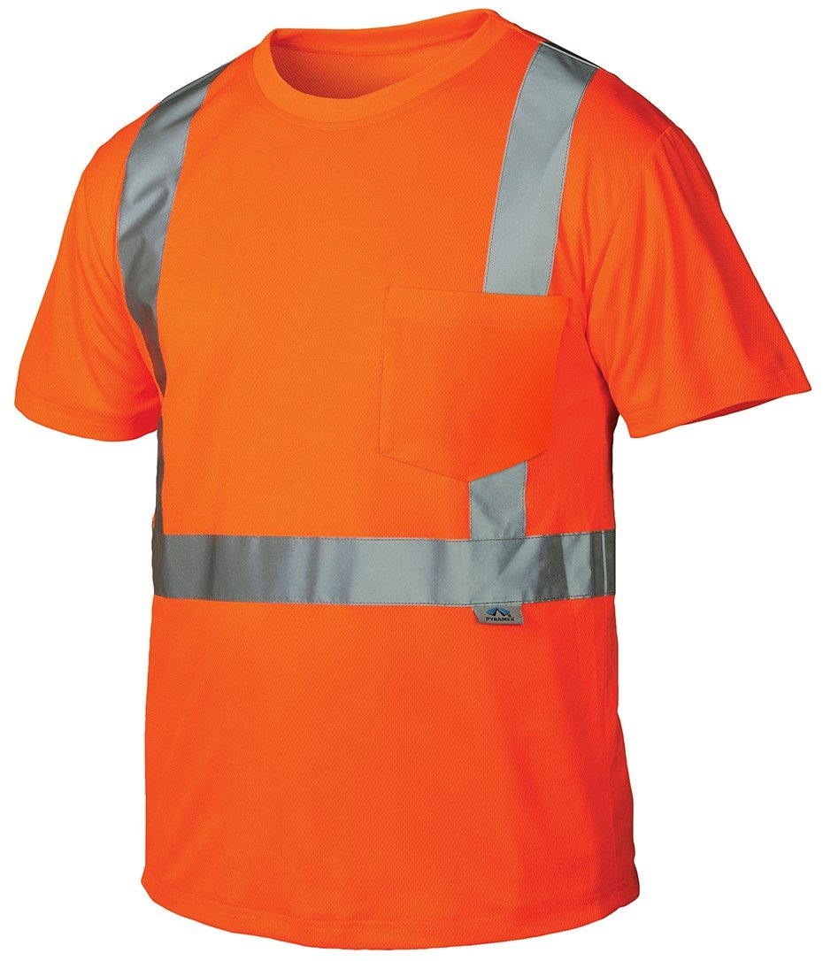 Pyramex Hi-Vis Orange T-Shirt - Size Large