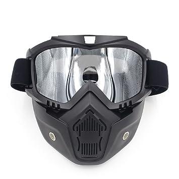 Gafas de sol para motocicleta desmontables con máscara protectora acolchada para casco de conducción por carretera
