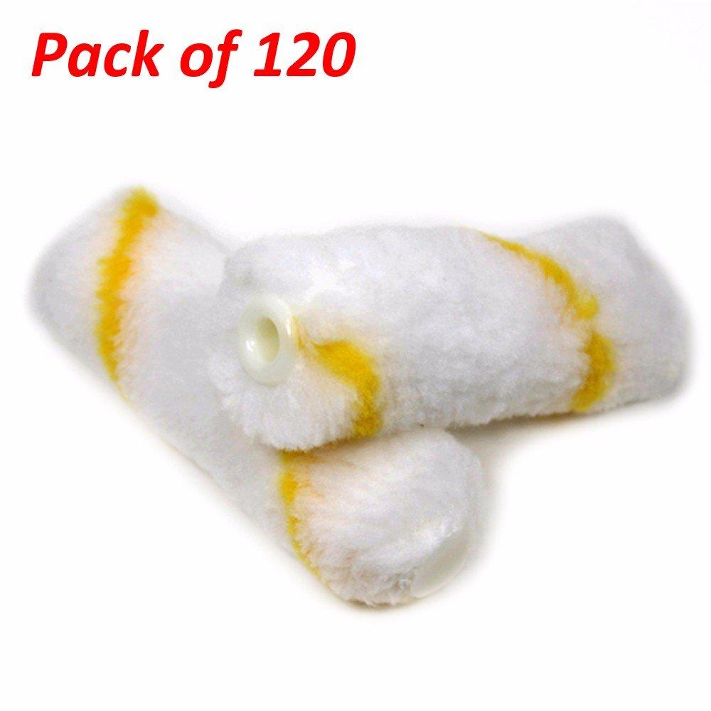 Wideskall Mini Paint Roller Cover Refill 4 x 1/2 inch Nap Soft Woven (Pack of 60) Wideskall®