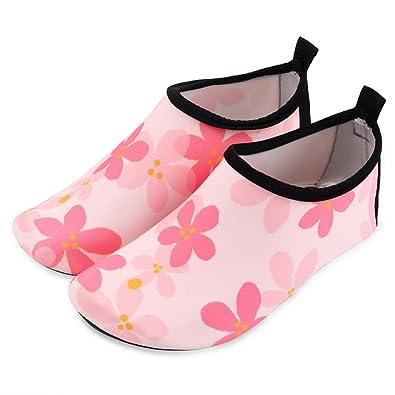 f1155cdbecc6 Anjoy Swim Shoes Water Beach Barefoot Quick-Dry Sports Aqua Socks For  Toddler Little Kids