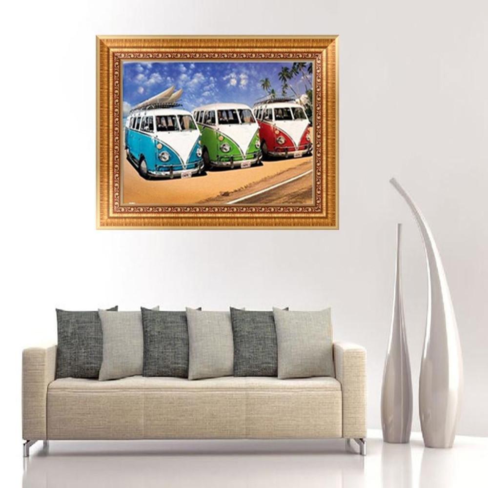 Crystal Diamond Rhinestone Painting By Number Cross-Stitch Kit Embroidery Craft Home Wall Decor Football//Fish//Car A Spritumn DIY 5D Diamond Painting Kits