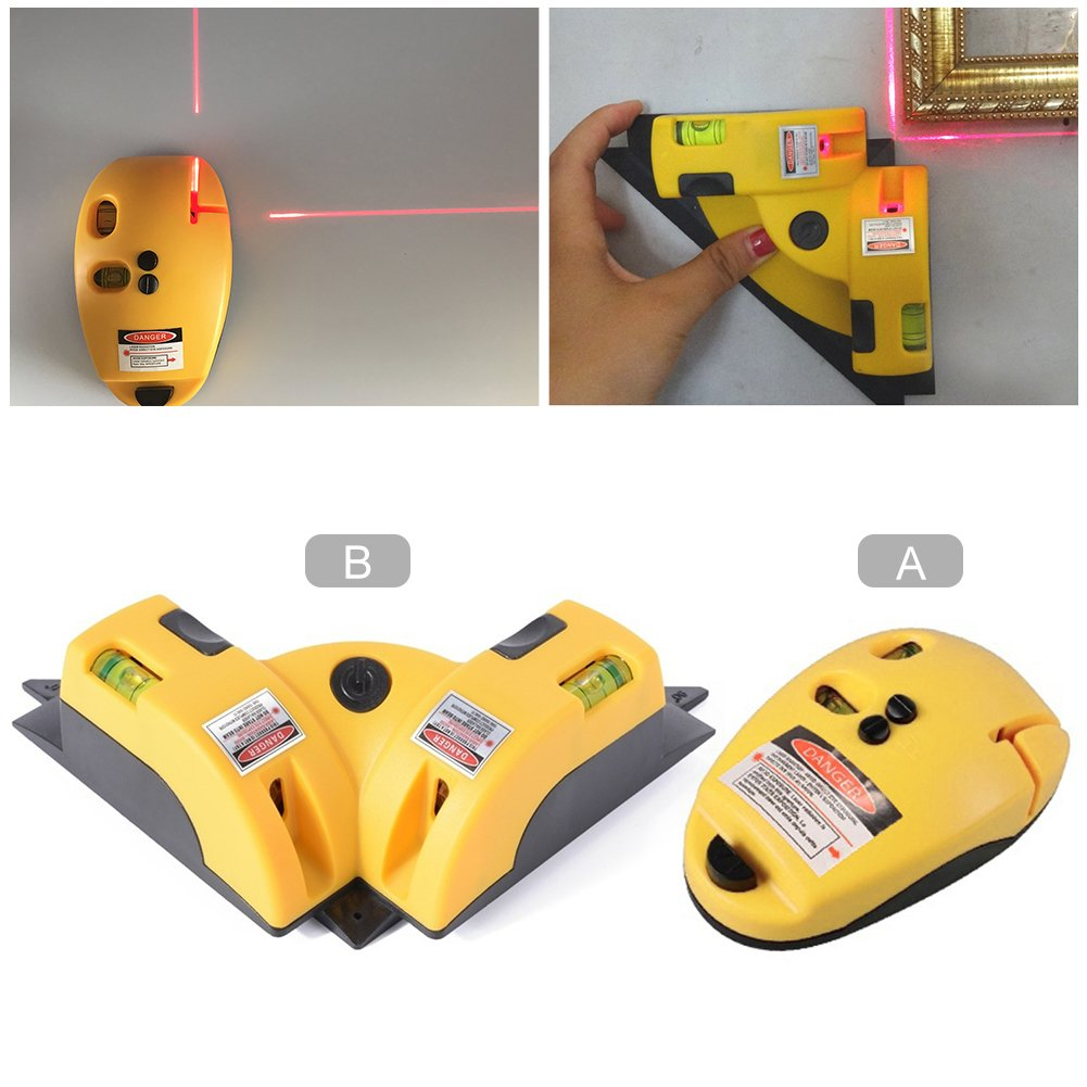 B Laser-Linie Projektion Square Level Rechtwinklig 90 Grad