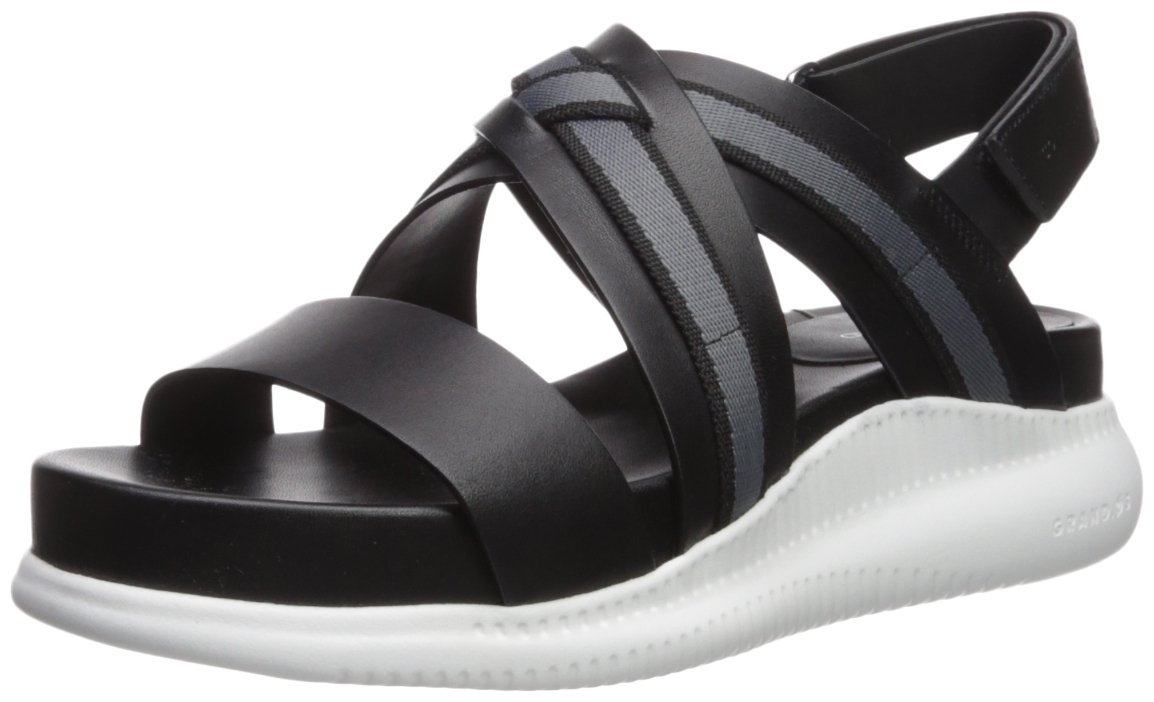Cole Haan Women's 2.Zerogrand Criss Cross Flat Sandal B073RV5V72 9 B(M) US|Black