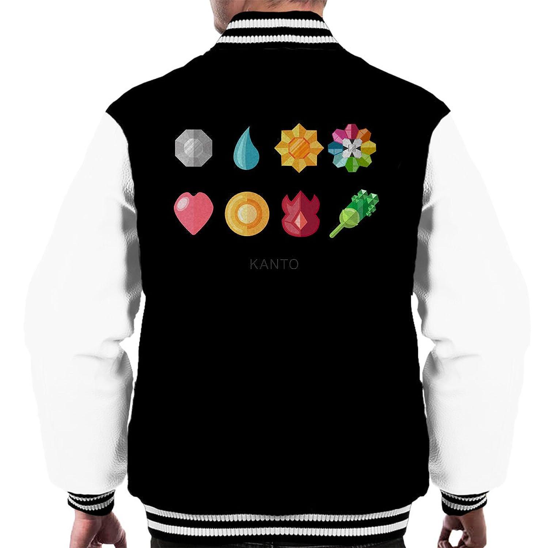 Kanto Badges Pokemon Men's Varsity Jacket