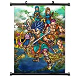 dragon quest wall scroll - Dragon Quest VI 6 Game Fabric Wall Scroll Poster (32x45) Inches