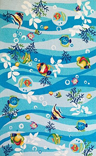 Sonesta Blue Tropical Fish Area Rug