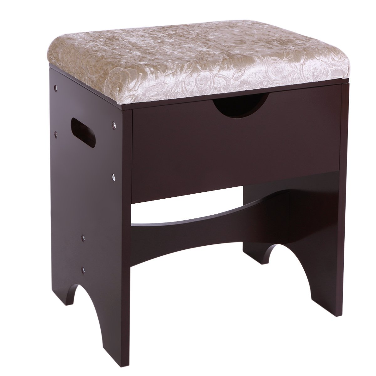 Vanity Bench Piano Seat Makeup Stool Chair Upholstered Seat ...