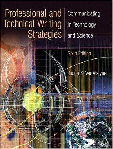 Pdf Reference Professional and Technical Writing Strategies: Communicating in Technology and Science (6th Edition)