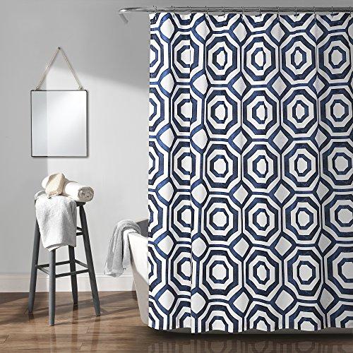 Lush Decor Octagon Blocks Shower Curtain, 72