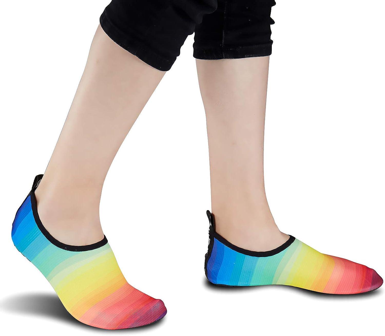 DimaiGlobal Zapatos de Agua Aqua Yoga para Mujer Hombre Ni/ños Descalzo Piel Calcetines de Buceo Nataci/ón Secado r/ápido Agua Calcetines para la Playa de nataci/ón Surf