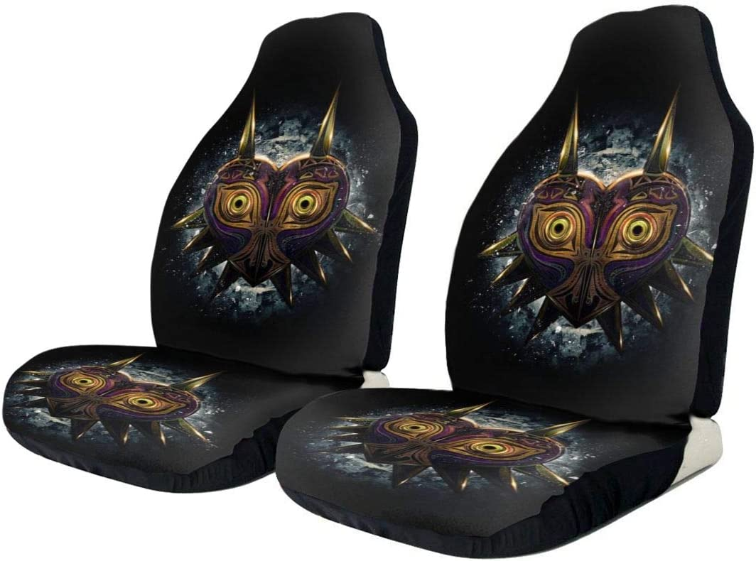 Xingalways Majoras Mask Owl The Legend Zelda Car Seat Covers Set of 2 Front Seats Vehicle Seat Protector Car Mat Covers Auto Accessories