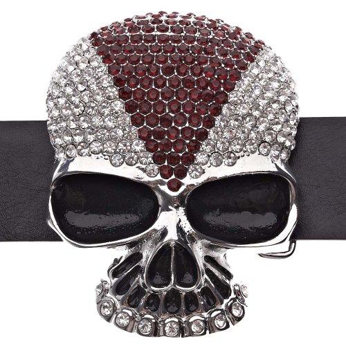 Hip Hop Belt Plata Helado de Rojo Skull Ice TzRvR6qw