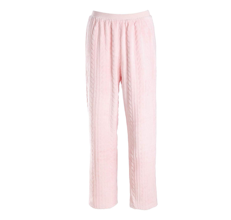 efb85027b4 ... Matt Viggo Damen Zweiteiliger Fleece Schlafanzug Winter Warm Hausanzug  Nachtwä sche Lang Pyjama Langarm V-
