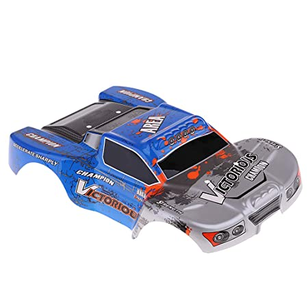 Flameer 1/18 Scale 4WD RC Car Shell Skin Main Body for 1/18 Wltoys A969 A969-B Hobbies Model