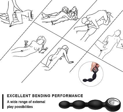 Pelepas Estimulador de Prostata Bola Vibradores Anal con Mando a Distancia Masajeador Multifuncional Plug Punto G Impermeable Juguetes Sexuales 12 ...