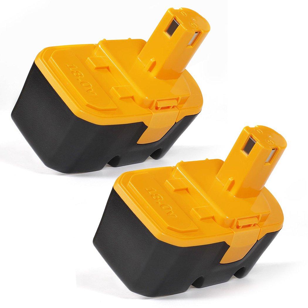 LENOGE 18V 3.0Ah NI-MH Replacement High Capacity Battery for Cordless Power Tools Ryobi One Plus P100 P101 130224028 130224007 130255004 ABP1801 ABP1803 (2-Packs)
