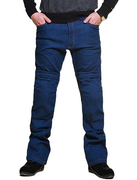 Nerve Ata Jeans Pantalones Vaqueros de Moto, Azul, L: Amazon ...