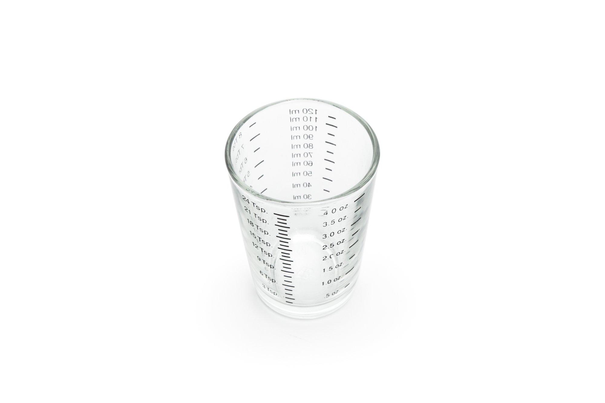 Fox Run Brands 4892COM 4-Ounce Mini Measuring Glass, Regular, Clear
