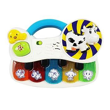 Juego Instrumentos Musicales percusión Juguete para bebés Piano con música Ligera Animal Piano Iluminación para bebés Desarrollo de Rompecabezas Juguete con ...
