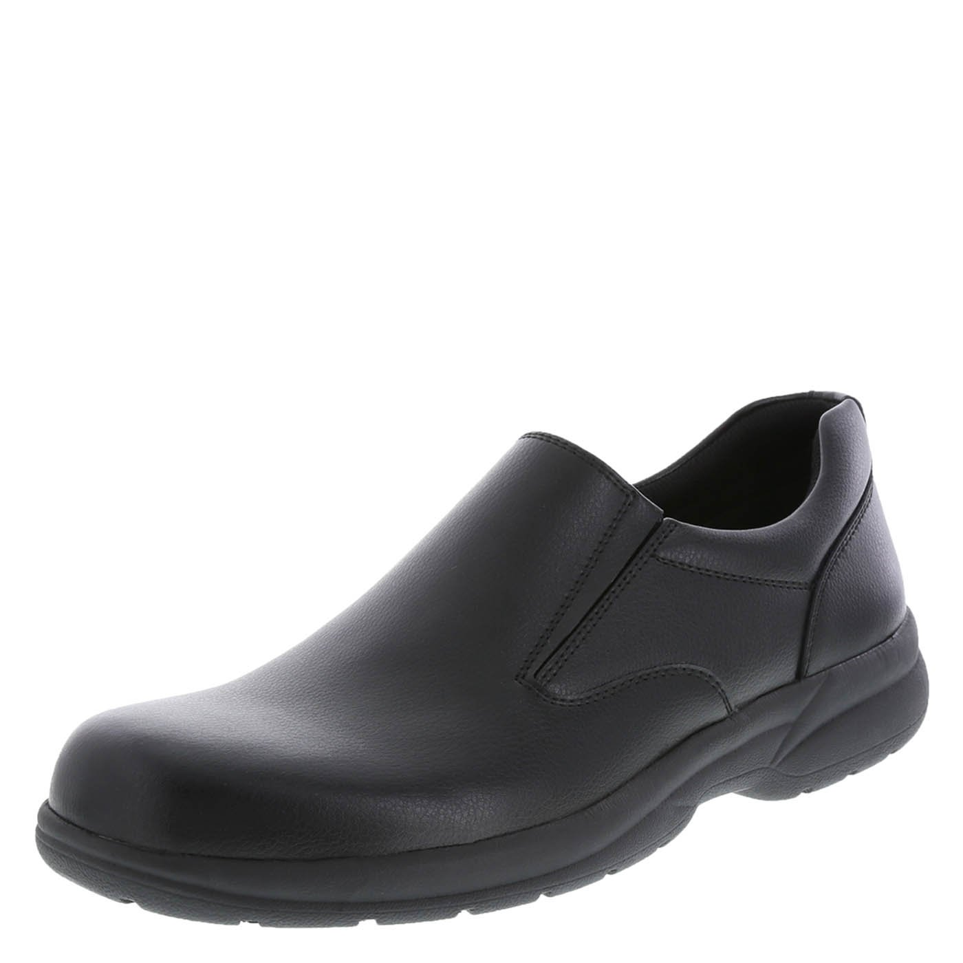safeTstep Slip Resistant Men's Black Men's Al Slip-On 12 Regular by safeTstep