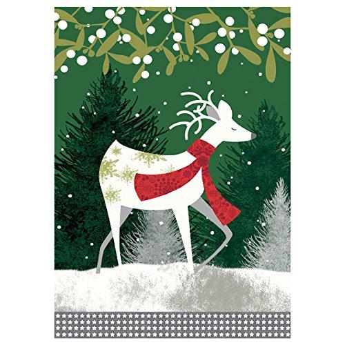 JoyPlus Decorative Garden Yard Flag Santa Claus Reindeer for