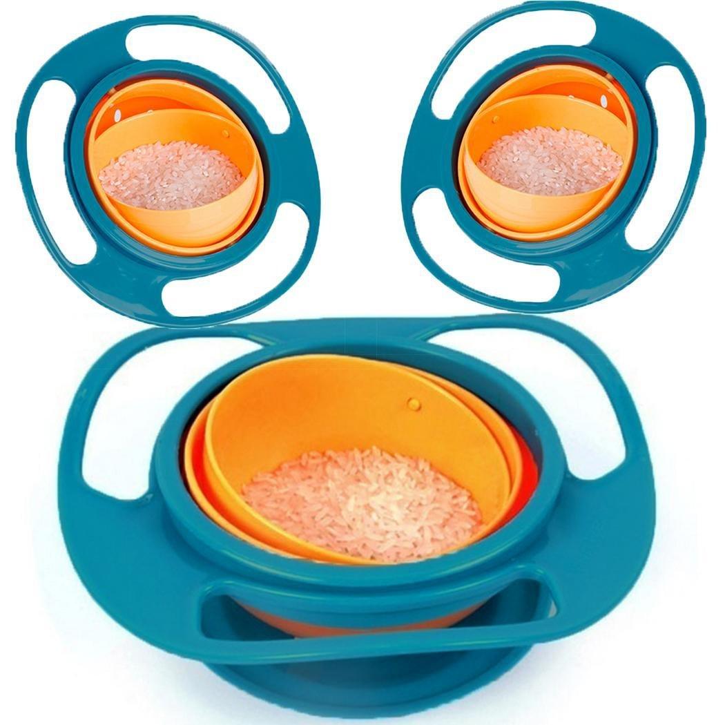 Acecoree Baby F/ütterung Sch/üssel,Babyschalen F/ütterung,Kleinkindschalen 360 Rotation Training F/ütterung Schalen Keine Spill Gyro Bowl Utensilien
