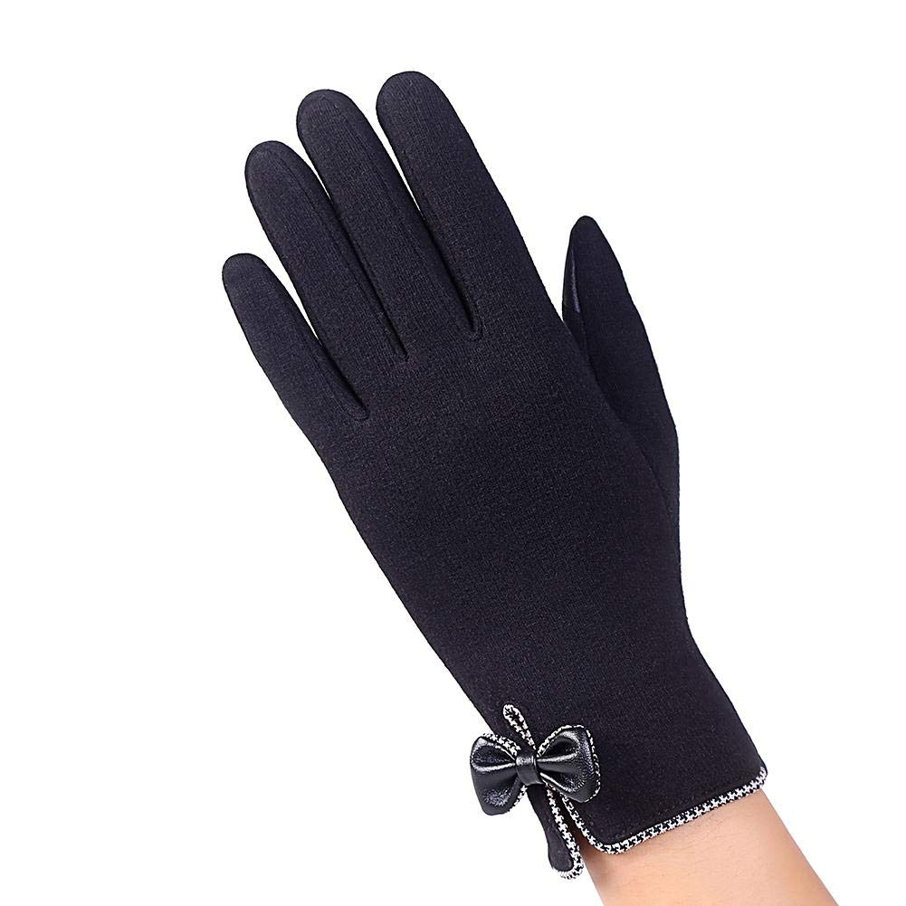 Smileyyi Women Knitted Gloves Windproof Touch Screen Gloves Thick Warm Smart Texting Gloves Fleece Lined Gloves