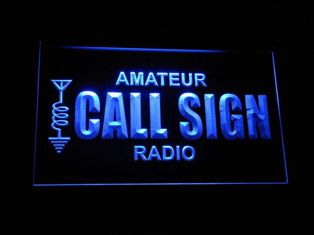 Amazon.com: wb-tm Custom Amateur Radio Your Call Sign Led Neon Sign ...