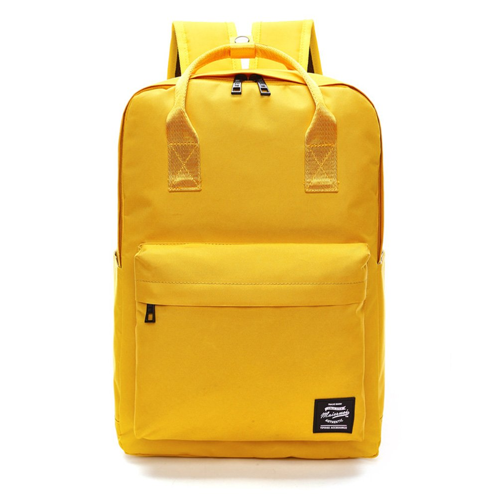 Qutool Casual Students Laptop Backpack Water Resistant Business School College Shoulder Travel Unisex Fashionable Backpack for Girls and Boys Blue (Yellow) by Qutool