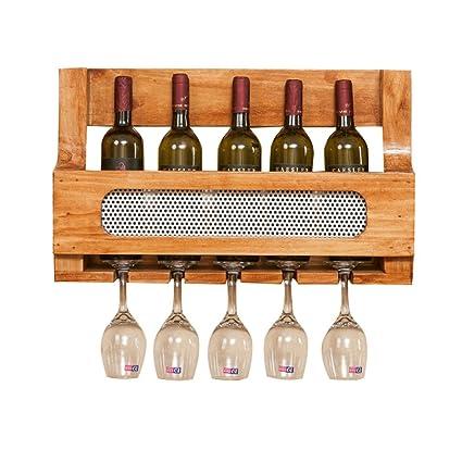 SKC Lighting-Estantería de vino Bastidores de vino de madera maciza Bar minimalista moderno Home