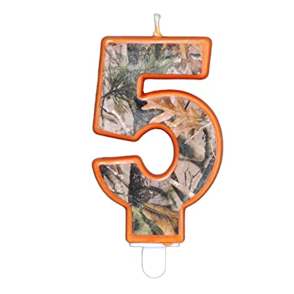Camo Birthday Candle Number 5 Five Next Party Collection By Havercamp