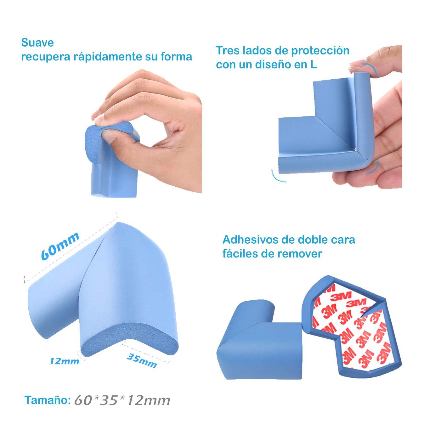 LCV™️ Kit de Seguridad para Bebé en Casa -35 Piezas | 12 Protectores de Enchufes para Bebés, 8 Protector de Esquinas, 10 Cerraduras para Armarios y ...