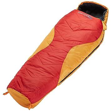 Skandika Outdoor Shetland Junior - Saco de dormir, color naranja/rojo, L: Amazon.es: Deportes y aire libre