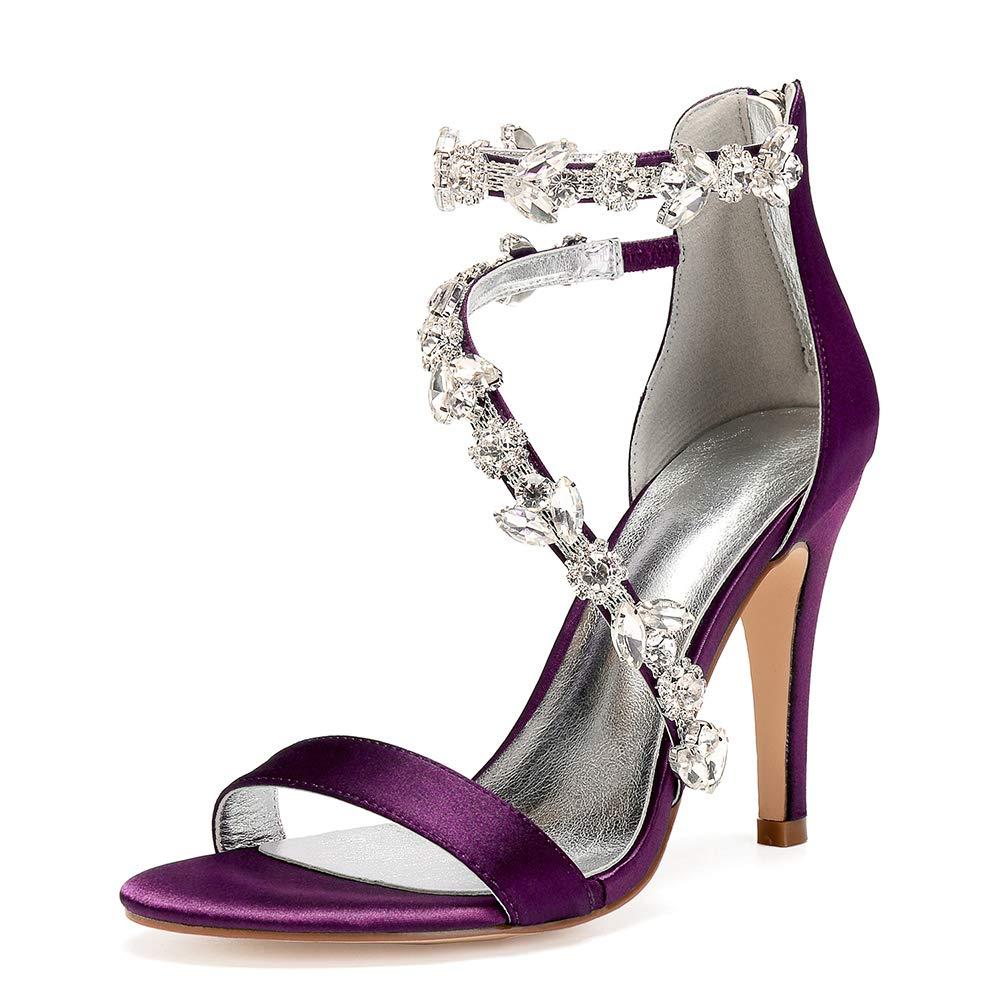MNVOA Donna tacco alto medio cinghietti incrociato sera matrimonio sandali taglia
