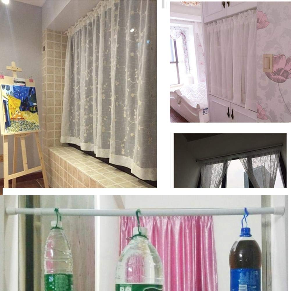 Tension Rods Cupboard Bars Tensions Rod Curtain Rod Closet Rod 28 to 48 Extendable Width Adjustable Spring Tension Rods 5 Pack