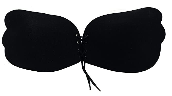 57b141d2ee135 Jadomi Wear Angel Lace Up Sticky Bra Backless Strapless Black Nude ...