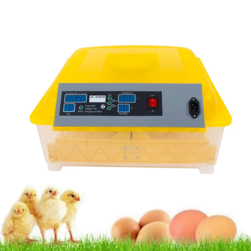 SIBO 48 eggs Incubator Mini Home Farm Digital Temperature Control Poultry Hatcher Chicken Brooder Hatching Tools (ship from US)