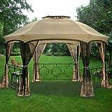 Garden Winds Dawson Hexagon Gazebo Replacement Canopy Top Cover - RipLock 500