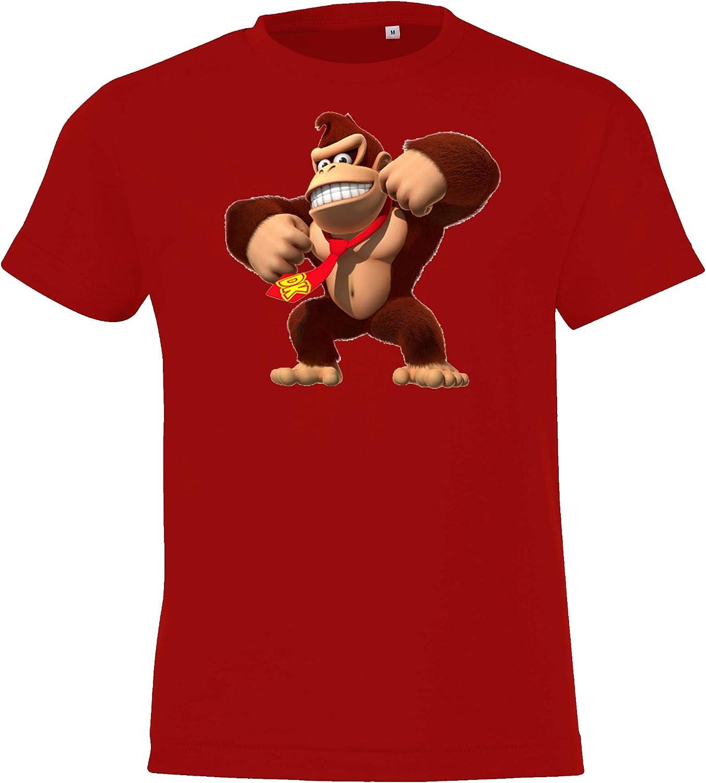 dise/ño de Donkey Kong TRVPPY Donkey Kong Camiseta infantil talla 2-12 a/ños