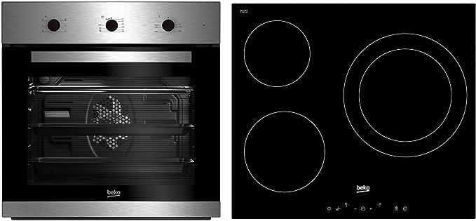 Beko Conjunto BSE22120X Horno+Placa INOX Aq, Negro: 264.99: Amazon.es: Grandes electrodomésticos