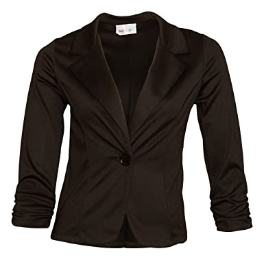 Red Hanger Womens Office Casual One Button Blazer Jacket   Made In USA  (Black