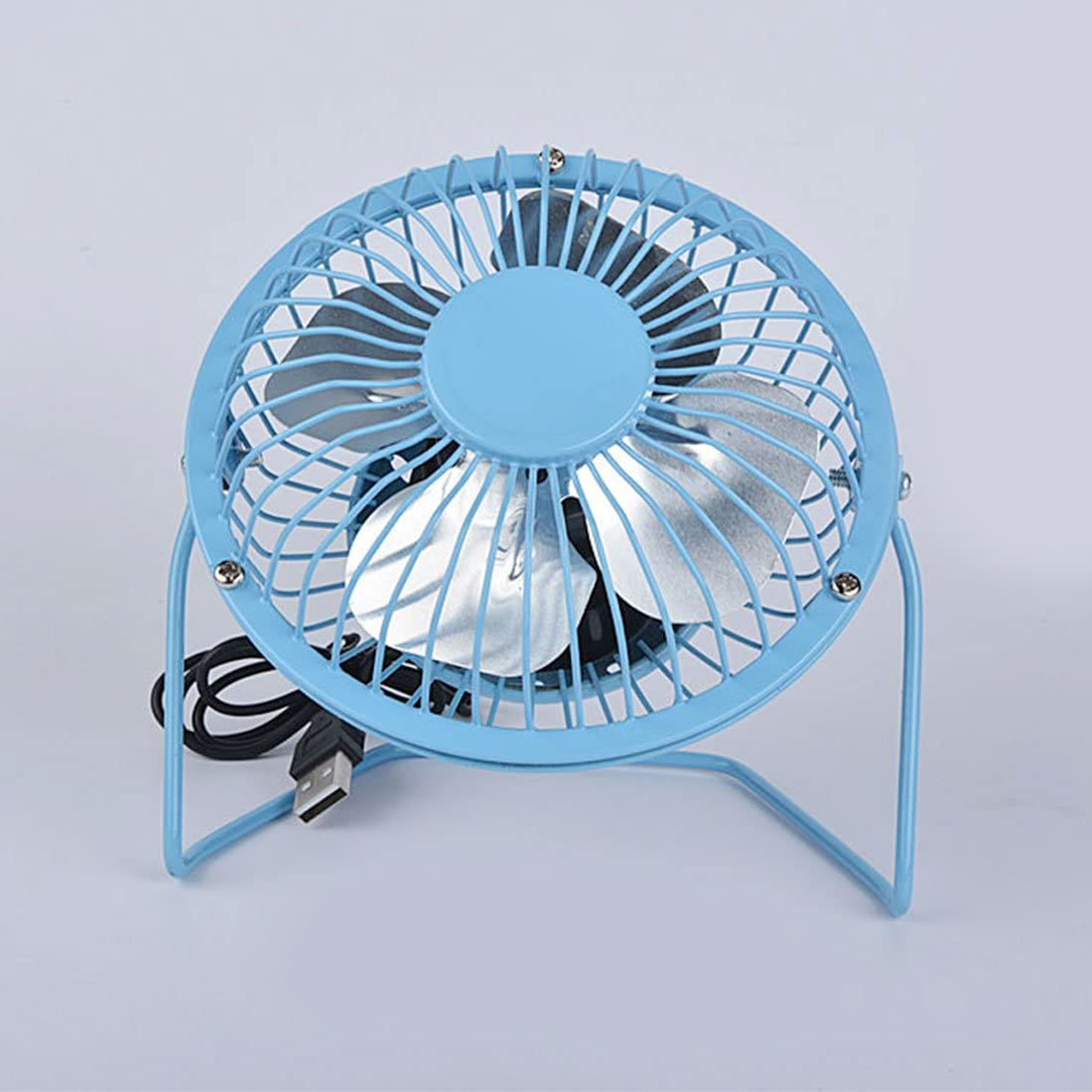 Blue Off Switch 4 inch Mini USB Fan Portable Quiet Metal Desktop Fan Tiltable Compact And Powerful With On
